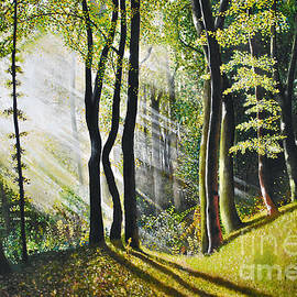 Maja Sokolowska - Forest oil painting