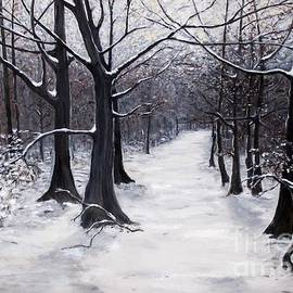 Judy Kirouac - Forest Path in Winter