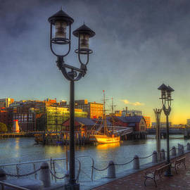 Joann Vitali - Fort Point Channel Sunset - Boston