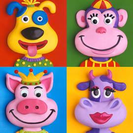 Amy Vangsgard - Four Animal Faces