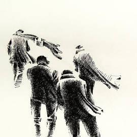 Mamoun Sakkal - Four Men in Less Wind