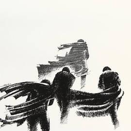 Mamoun Sakkal - Four Men in the Wind