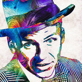 Sharon Cummings - Frank Sinatra Art - Old Blue Eyes - By Sharon Cummings
