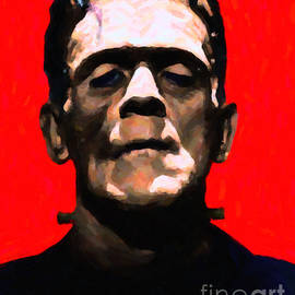 Wingsdomain Art and Photography - Frankenstein - Painterly - Red