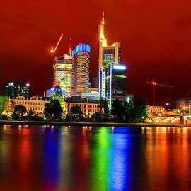 Julia Fine Art And Photography - Frankfurt Red Skyline