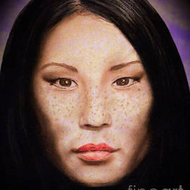 Jim Fitzpatrick - Freckle Faced Beauty Lucy Liu  III Altered Version