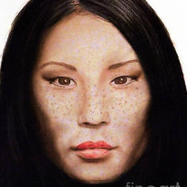 Jim Fitzpatrick - Freckle Faced Beauty Lucy Liu  III