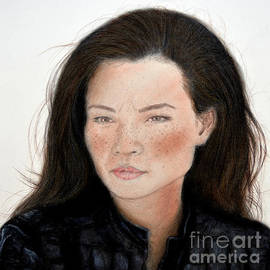 Jim Fitzpatrick - Freckle Faced Beauty Lucy Liu remake