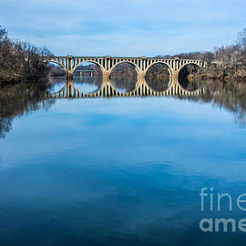 Kathy Liebrum Bailey - Fredericksburg Bridge Reflection
