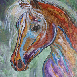 Ella Kaye Dickey - Free As The Wind - Horse Abstract Painting