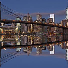 Juergen Roth - Freedom Tower and Brooklyn Bridge