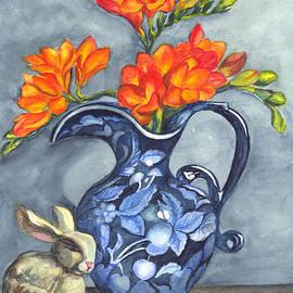 Carol Wisniewski - Freesias in a Vase