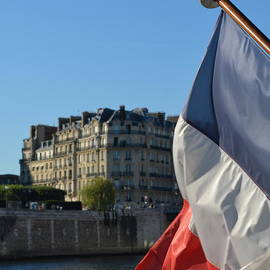 Cheryl Miller - French Flag . River Seine