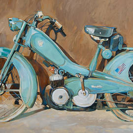 Anke Classen - French moped vintage and blue
