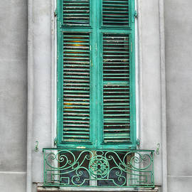 Brenda Bryant - French Quarter Window in Green