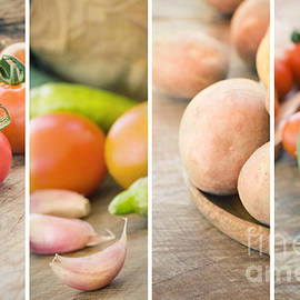 Mythja  Photography - Fresh Vegetables collage