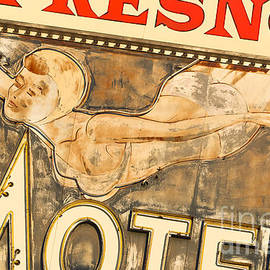 John Wayland - Fresno Motel SWIMMER Vintage Neon Sign In Fresno California