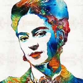 Sharon Cummings - Frida Kahlo Art - Viva La Frida - By Sharon Cummings