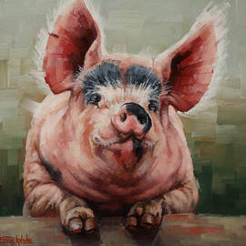Margaret Stockdale - Friendly Pig