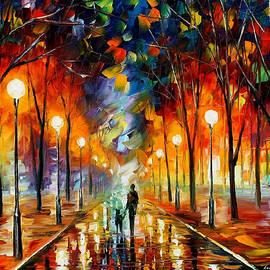 Leonid Afremov - Friendship - PALETTE KNIFE Oil Painting On Canvas By Leonid Afremov