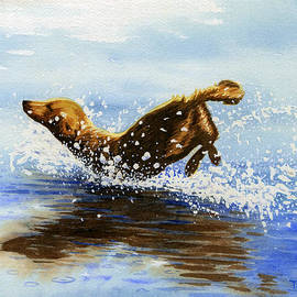 Timothy Livingston - Frolicking Dog