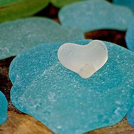 Shelley Lewis - Frosted Salish SeaGlass Heart