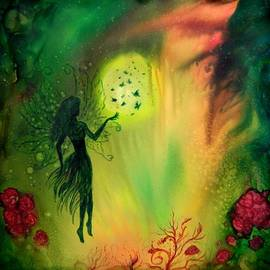 Lilia D - Full moon Fairy and Butterflies