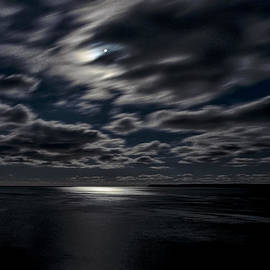 Marty Saccone - Full Moon on the Bay of Fundy