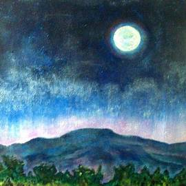 Karen Storay - Full Moon over Mountain