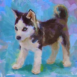 Karen Whitworth - Full Of It - Alaskan Husky Sled Dog Puppy