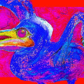 Sue Jacobi - Funky Baby Pelican Bird Mommy Feed Me Art Prints