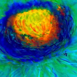 Sue Jacobi - Funky Blue Daisy Flower Art Prints