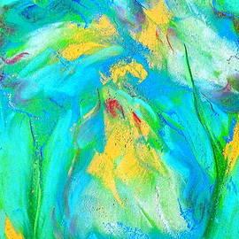Sue Jacobi - Funky Blue Iris Flower Art Prints