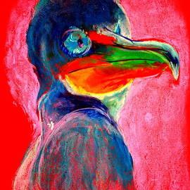 Sue Jacobi - Funky Cormorant Baby Bird Art Print