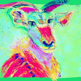 Sue Jacobi - Funky Greater Kudu African Wildlife Art Prints