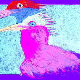Sue Jacobi - Funky Royal Terns Birds Couple Art Prints
