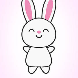 Philipp Rietz - Funny Cute Rabbit Bunny in Pink