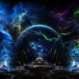 Rolando Burbon - Galactic Ocean Waves Fractal Art
