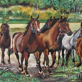Ryszard Sleczka - Galloping Horses