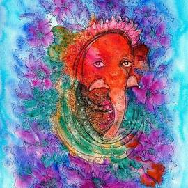 Vandana Devendra - Ganesha in red