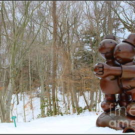 Photographic Art and Design by Dora Sofia Caputo - Garden Art In Winter