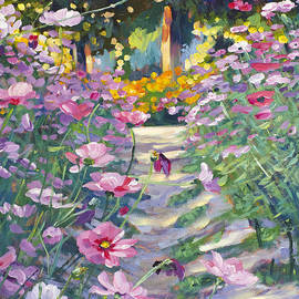 David Lloyd Glover - Garden Path of Cosmos