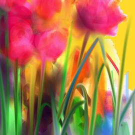 Maureen Kealy - Garden Tulips in Full Bloom