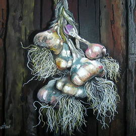Mike Benton - Garlic Hanging to Dry
