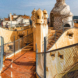 Georgia Mizuleva - Gaudi Fascinating La Pedrera Rooftop - Impressions Of Barcelona