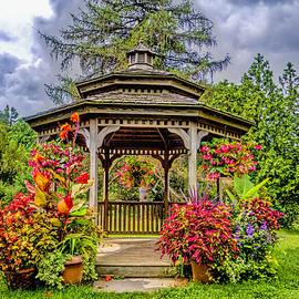 Geraldine Scull   - gazebo at Rutgers Gardens