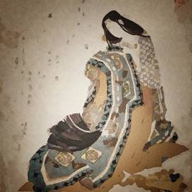 Gun Legler - Geisha with a fan.