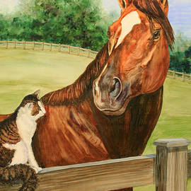 Kristine Plum - General Charlie and Whirlaway the Cat Portrait