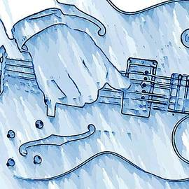 Chris Berry - Gibson Guitar in Blue
