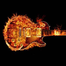 Robert Gardiner - Gibson Les Paul Guitar on Fire Crop